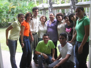 Some CAEDEBA and Students Union members. Librarianship School. Universidad Central de Venezuela