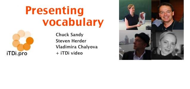 Presenting vocabulary
