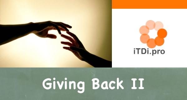 Giving Back II