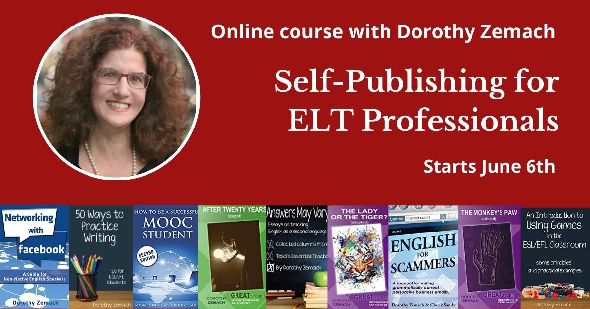 Self-publishing course with Dorothy Zemach